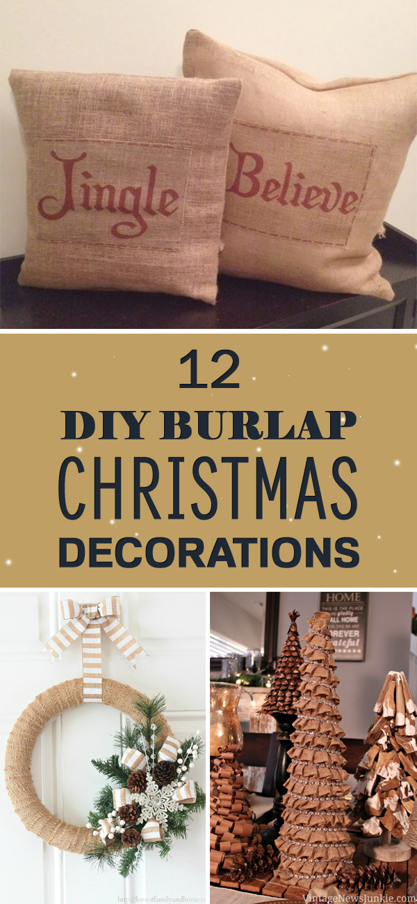 12 Gorgeous DIY Burlap Christmas Decorations That Will Beautify Your Home
