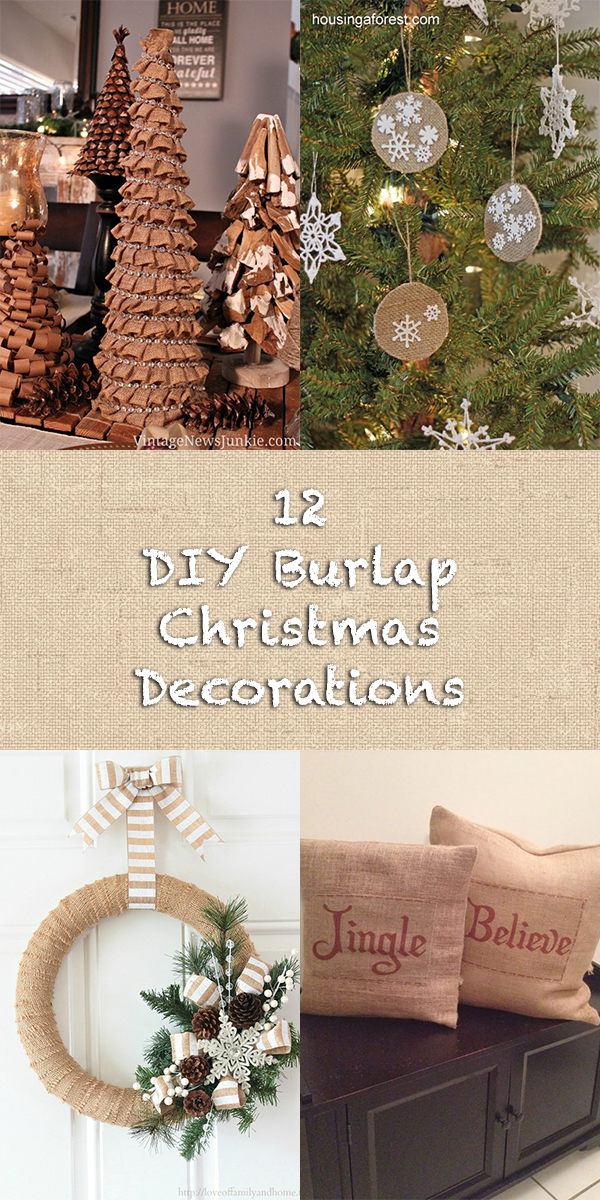 12 Gorgeous DIY Burlap Christmas Decorations