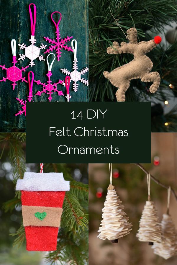 14 DIY Felt Christmas Ornaments