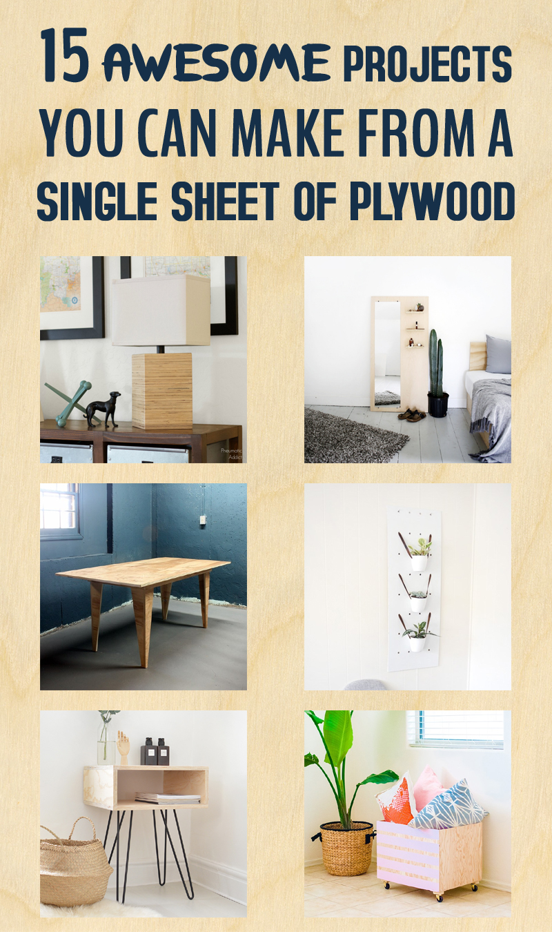 15 Awesome Projects You Can Make From a Single Sheet of Plywood