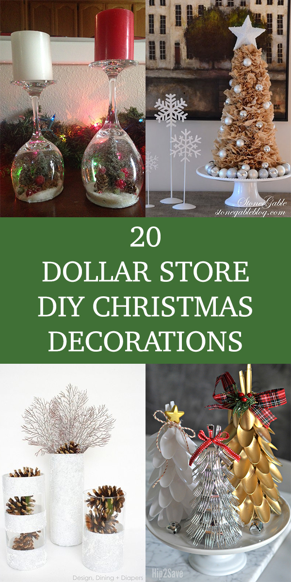 20 Dollar Store DIY Christmas Decorations