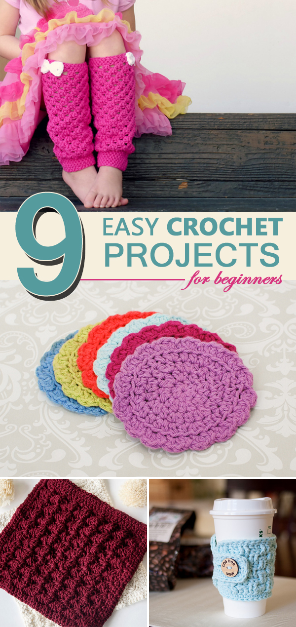 9 Easy Crochet Projects for Beginners