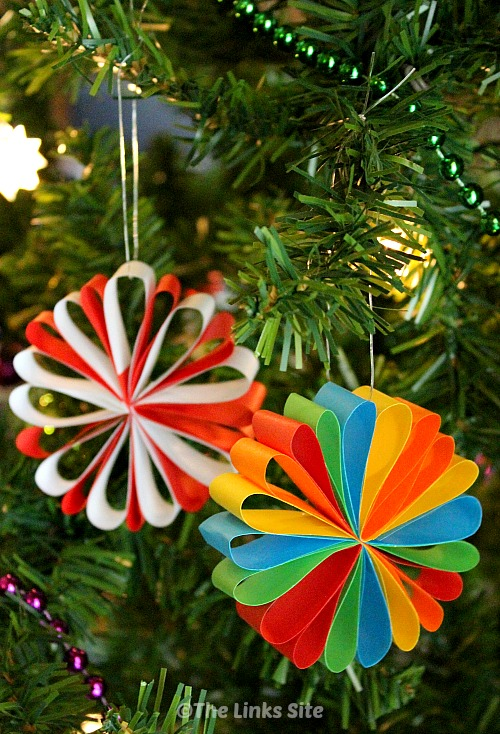 beautiful paper christmas decorations - Easy Paper Christmas Decorations