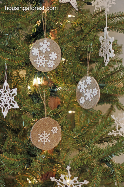 burlap ornaments - Burlap Christmas Decorations