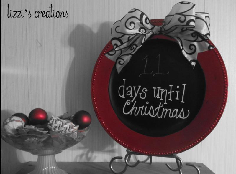 Christmas Countdown Chalkboard Plate