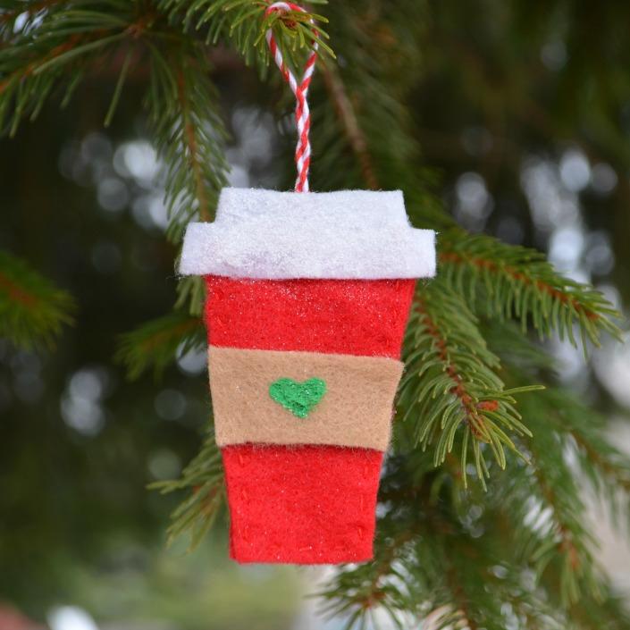 Felt Coffee Cup Ornament