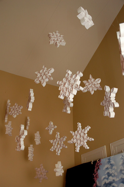 Giant Quilled Snowflakes