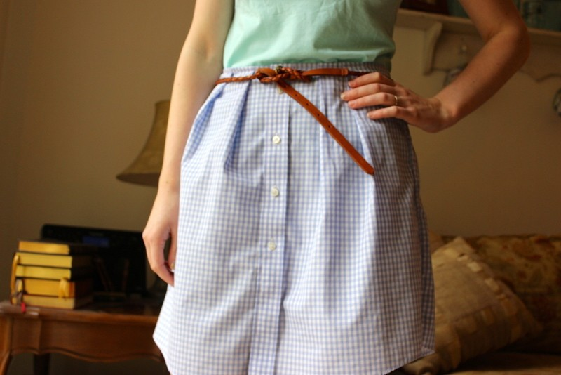 Men's Shirt To Women's Skirt
