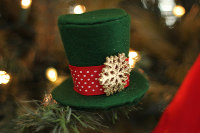 Mini Top Hat Ornament