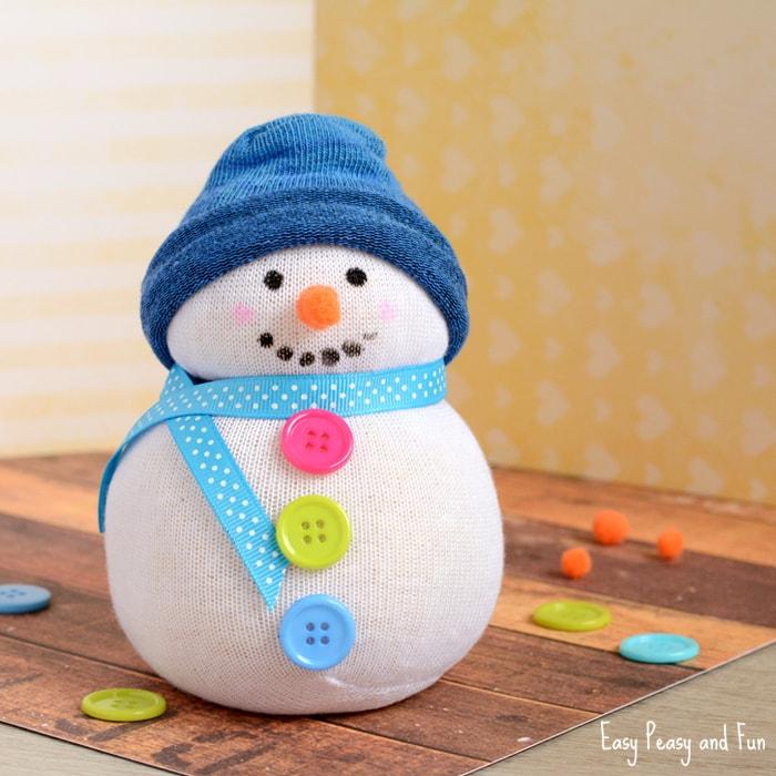 No-Sew Sock Snowman
