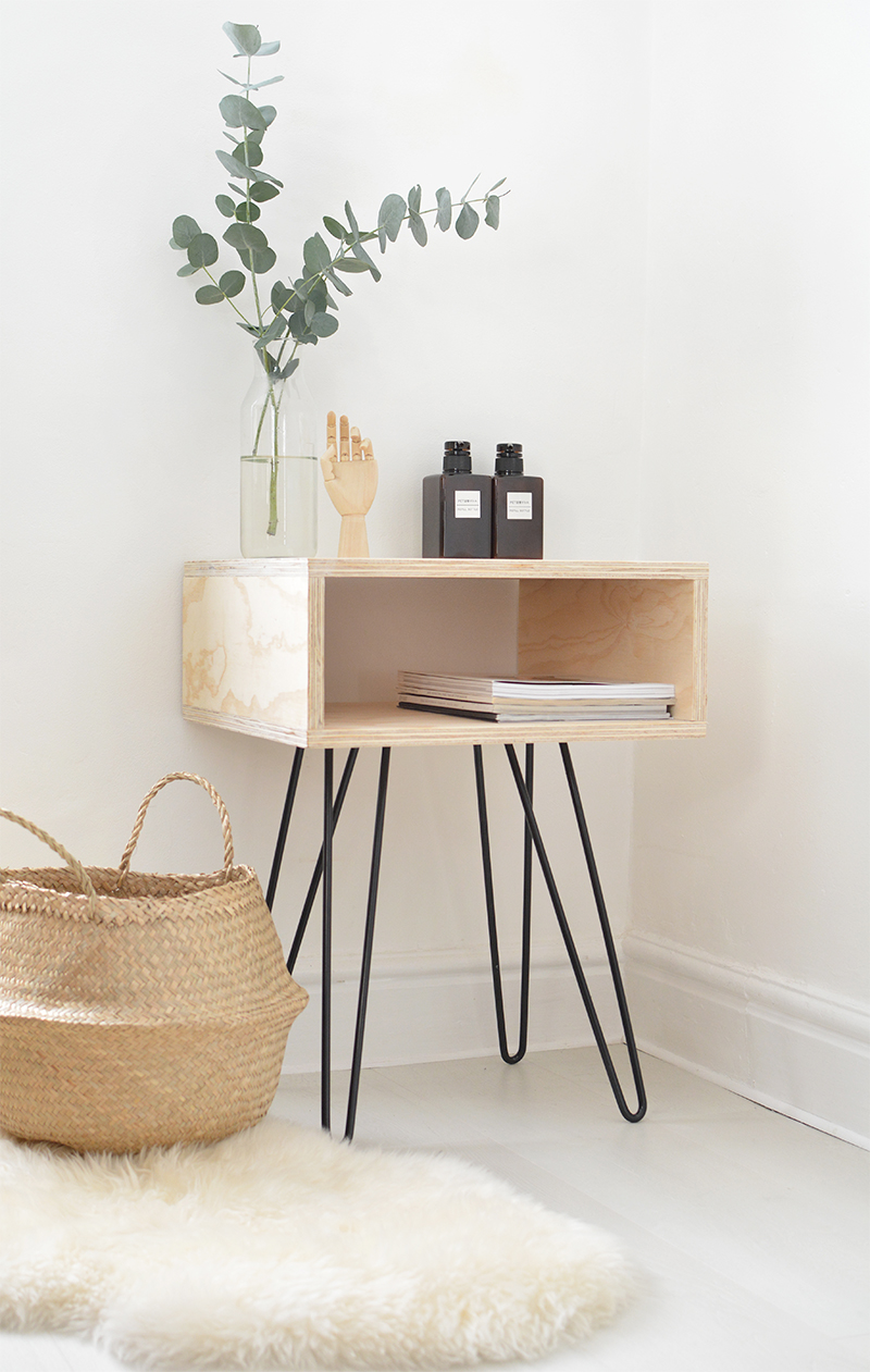 Plywood Nightstand