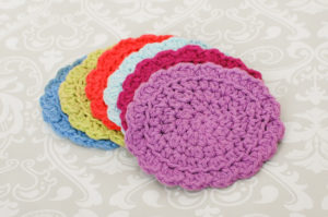 Round Crochet Coasters