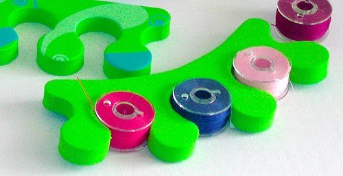Store bobbins in pedicure toe separators