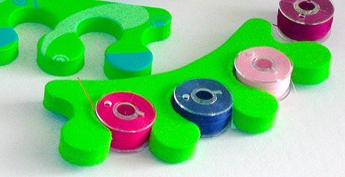 Store bobbins in pedicure toe separators