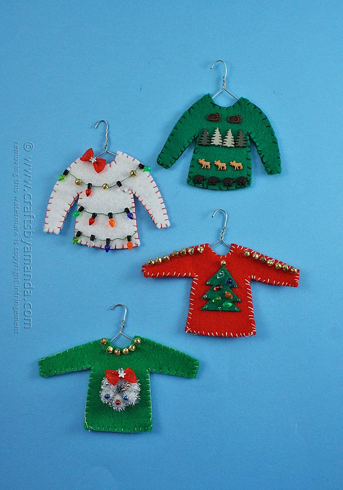 14 Easy-To-Make Felt Christmas Ornaments