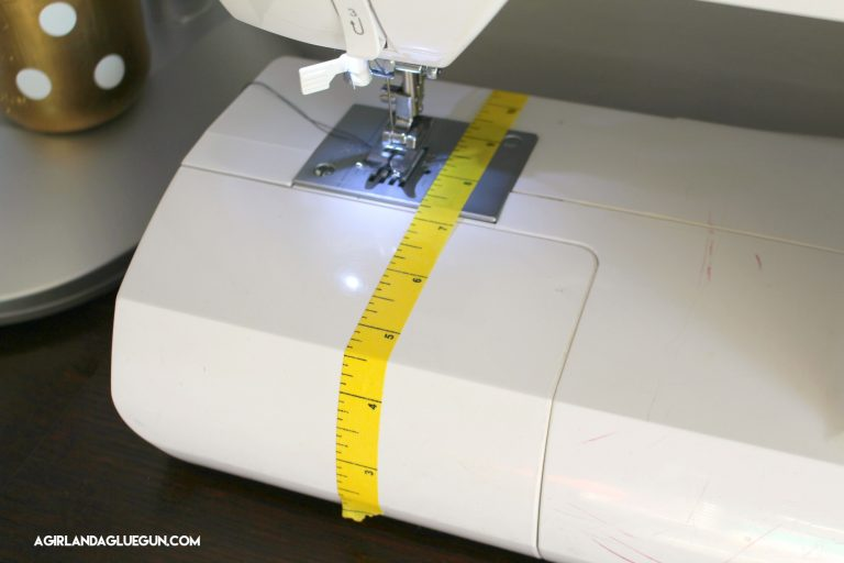 Use washi tape to help keep things straight when sewing