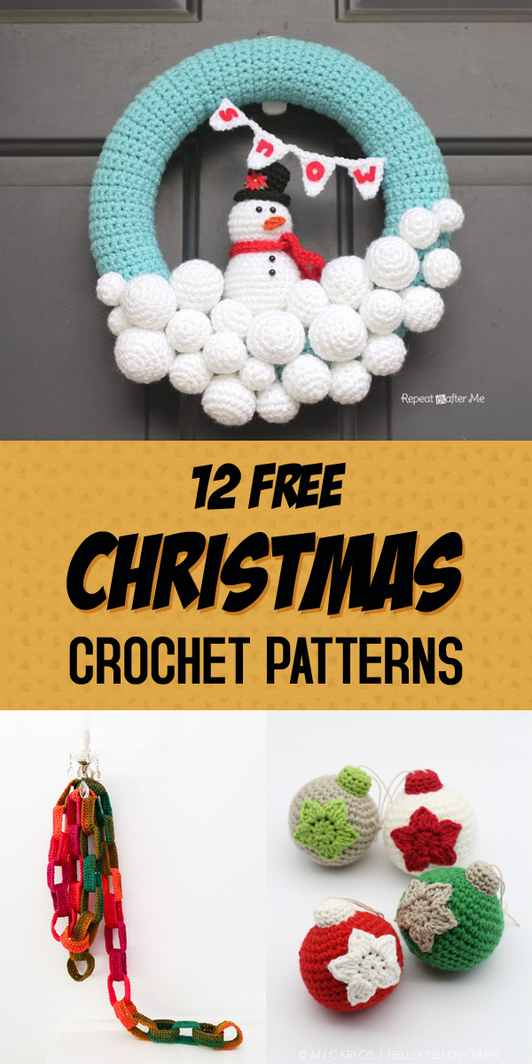 12 Free Christmas Crochet Patterns