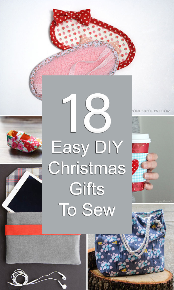 18 Easy DIY Christmas Gifts To Sew
