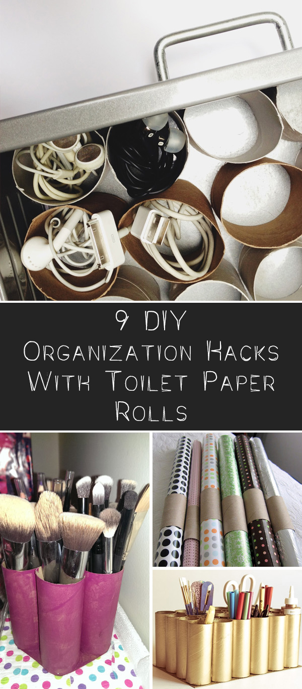 9 DIY Organization Hacks With Toilet Paper Rolls