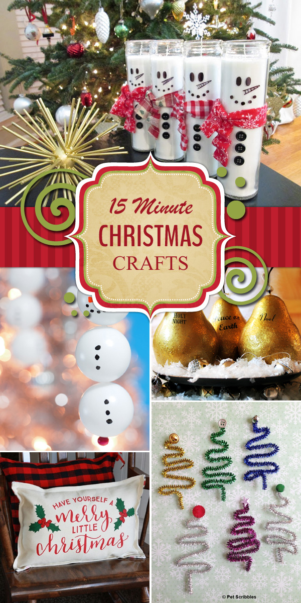 12 Christmas Crafts That Can Be Made in 15 Minutes or Less