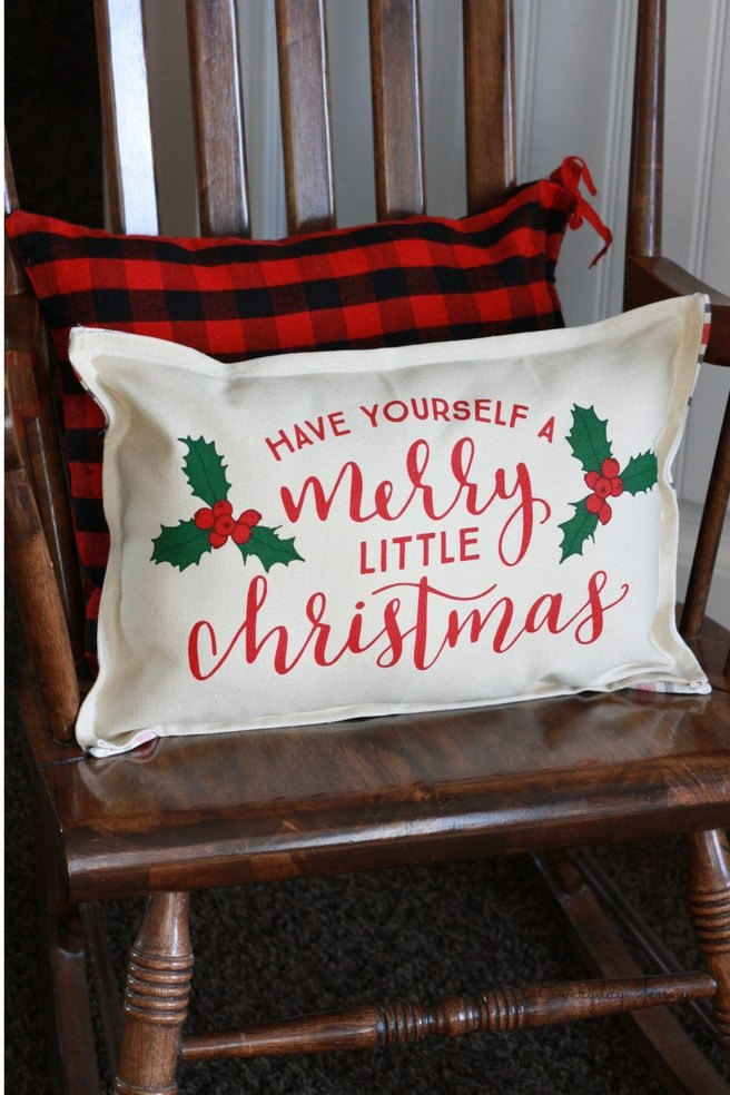 Christmas Pillow from Placemats