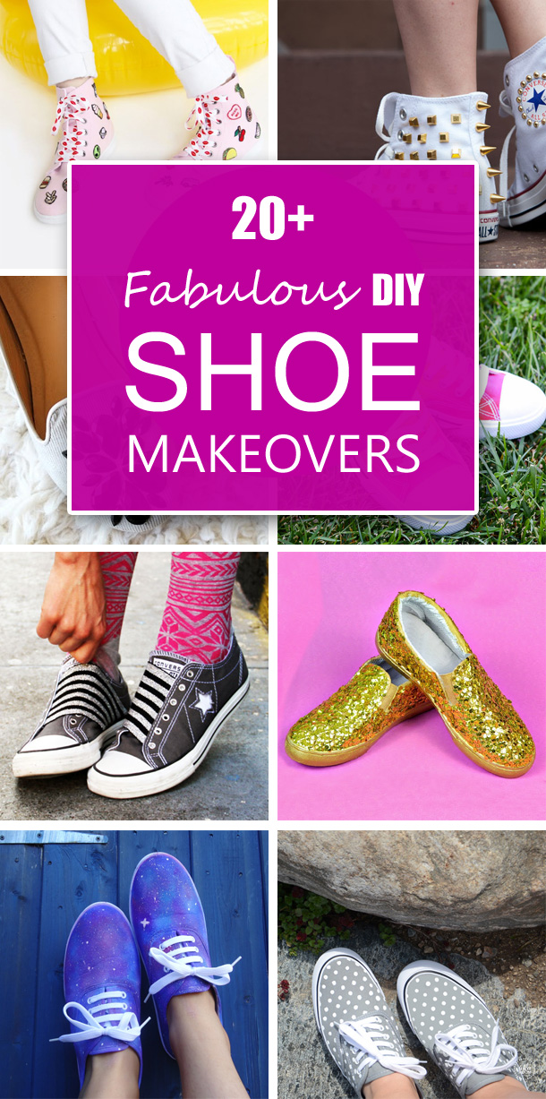 20+ Fabulous DIY Shoe Makeovers You'll Love