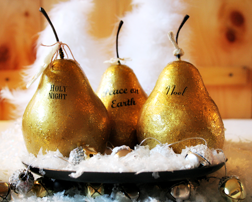 Faux Gilded Pears