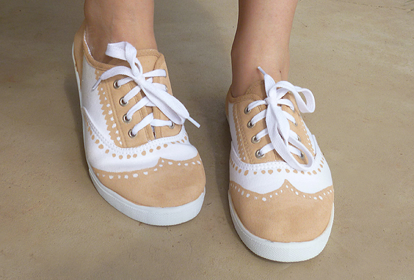 Faux Painted Oxfords