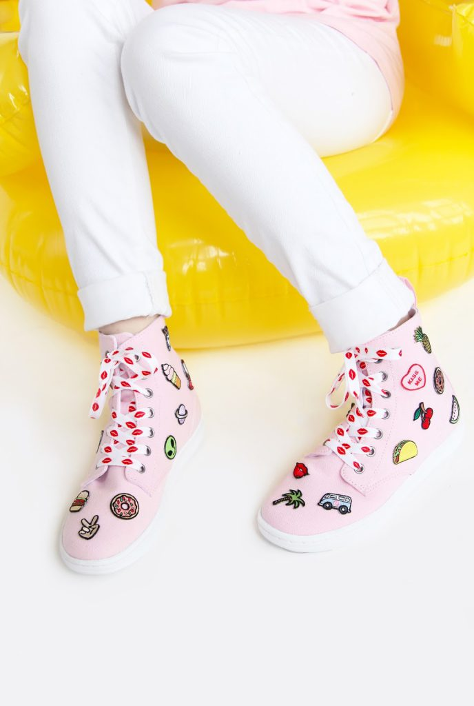 Patch Patterned Sneakers