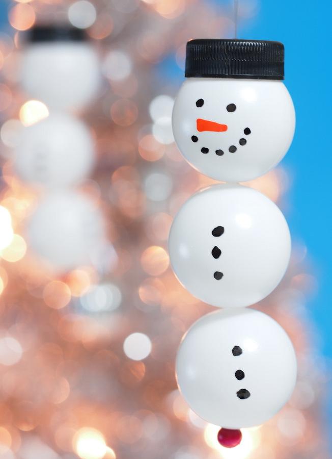 Ping Pong Snowmen Ornament