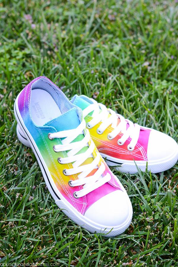Rainbow Tie-Dye Shoes
