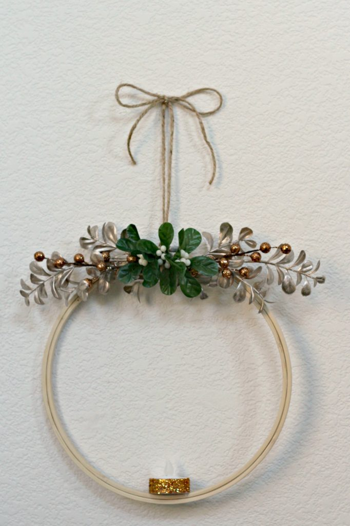 Winter Candle Hoop Wreath