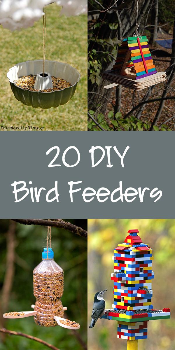 20 Easy DIY Bird Feeders That Anyone Can Make