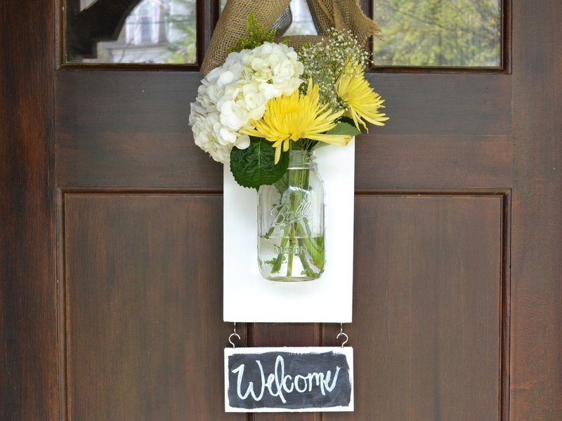 Hanging Mason Jar Flower Vase