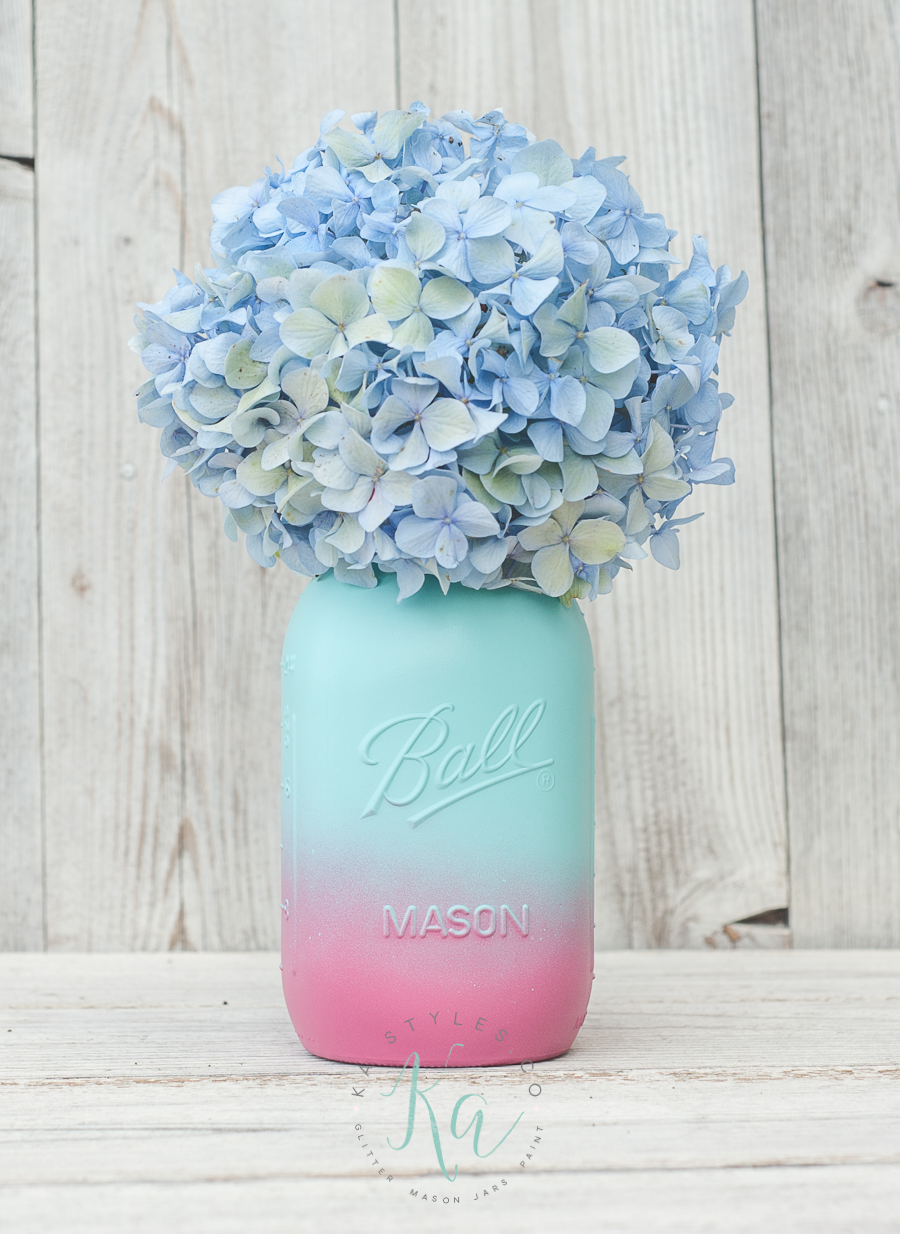 Ombre Painted Mason Jar