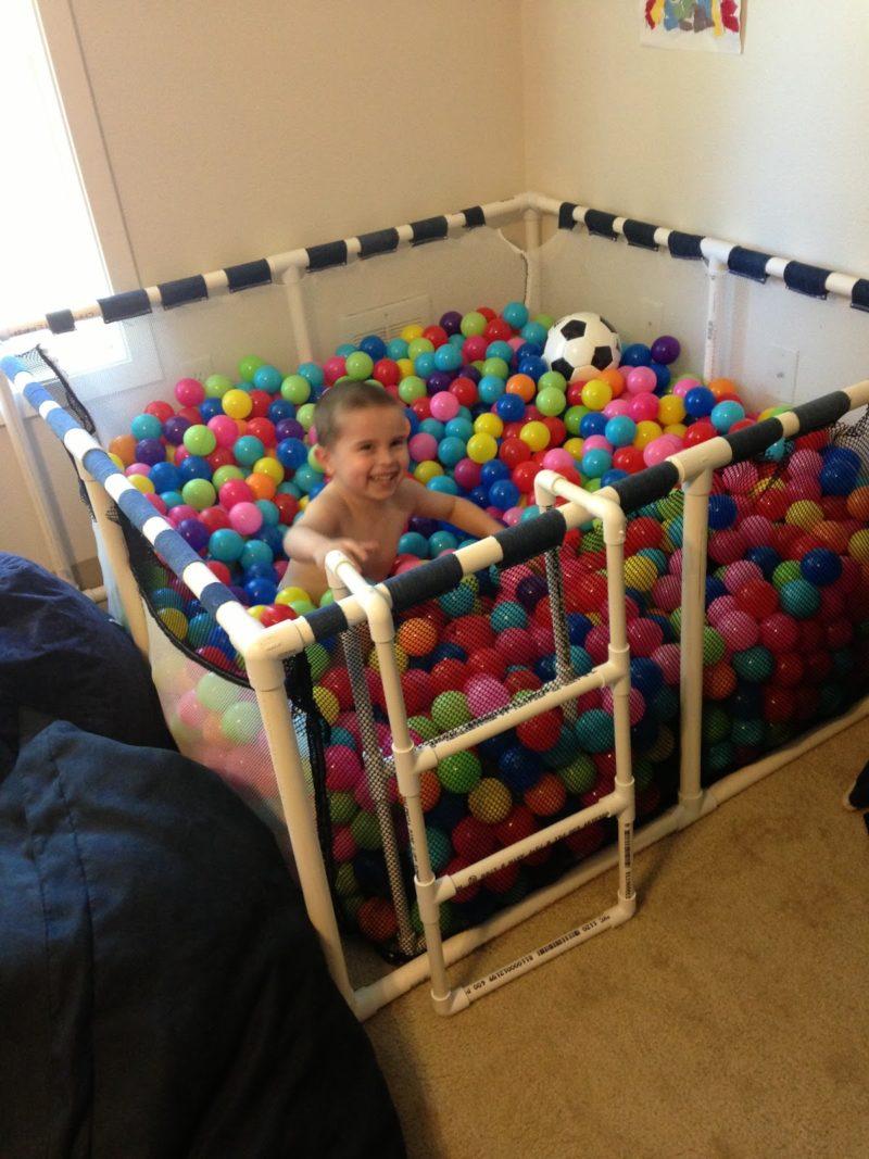 PVC Pipe Ball Pit