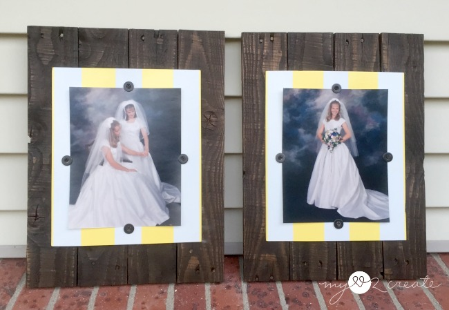 Scrap Wood Picture Frames