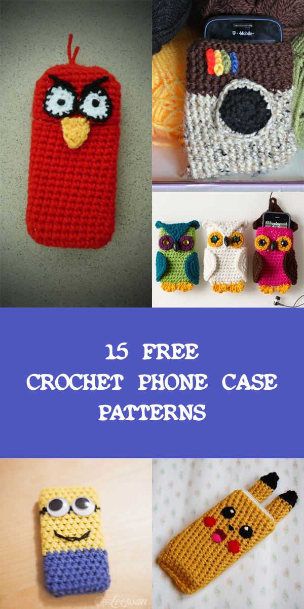 15 Free Crochet Phone Case Patterns