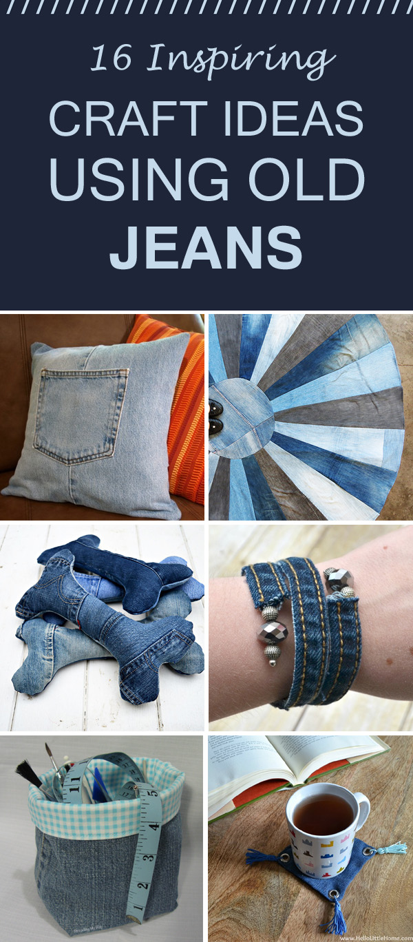 16 Inspiring Craft Ideas Using Old Jeans