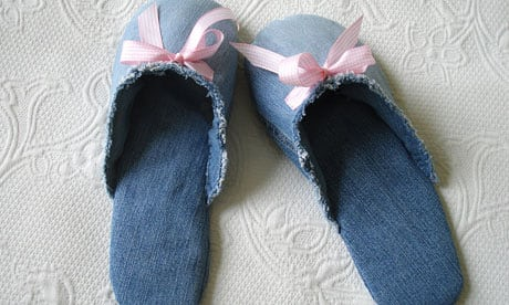 Cozy Denim Slippers