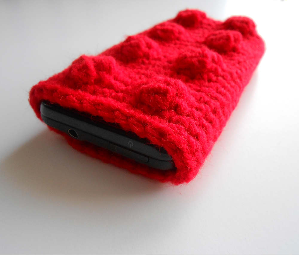 Crochet Lego Phone Case