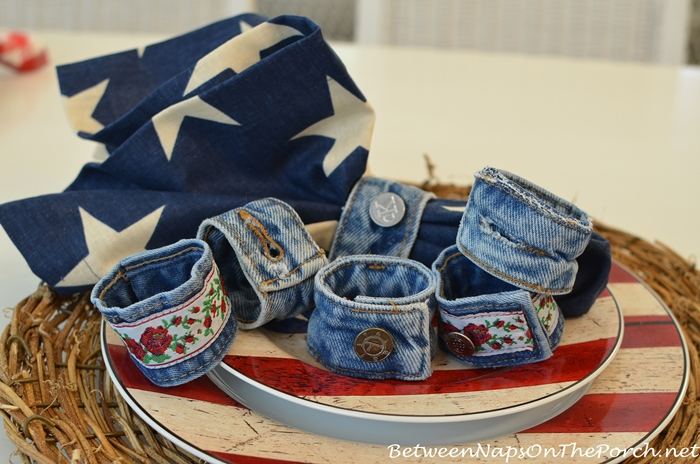 Denim Napkin Rings