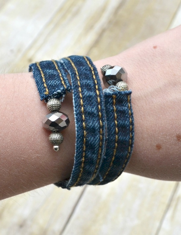 Denim Wrap Bracelet