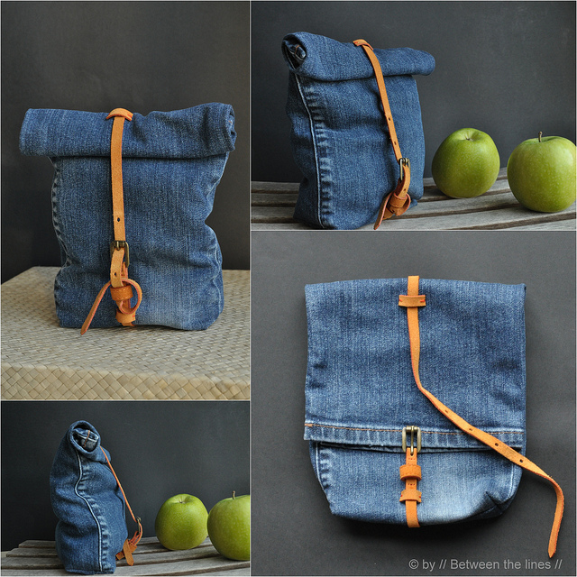 Denim snack bag