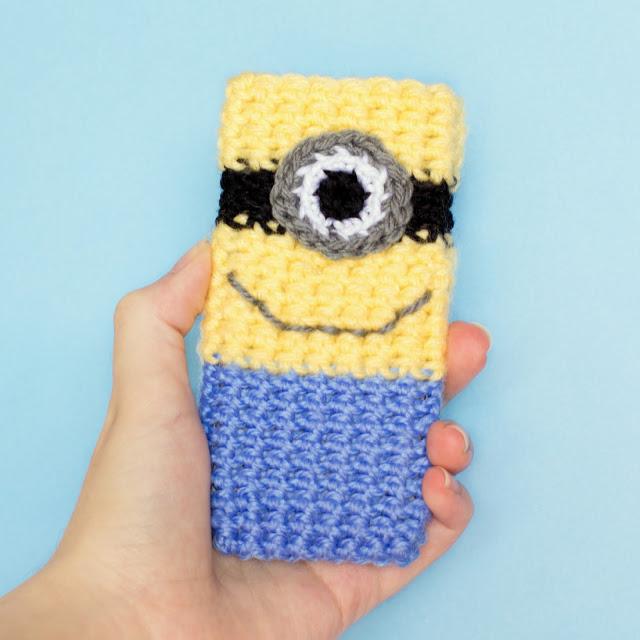 Minion Inspired Phone Case Crochet Pattern