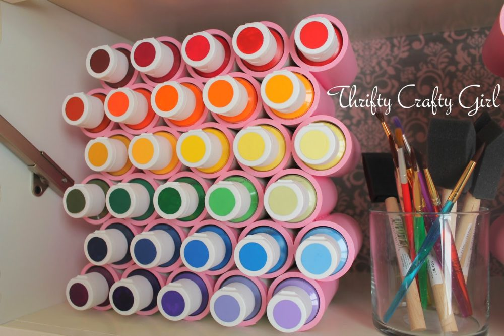 PVC Pipe Paint Rack