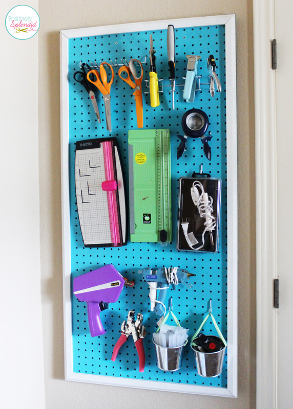 Pegboard Craft Organizer