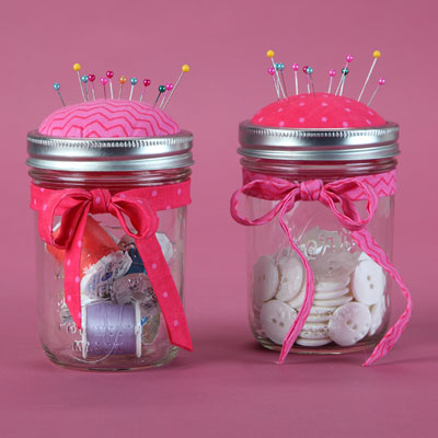 Pin Cushion Canning Jar