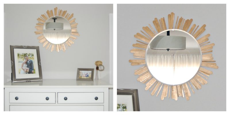 Popsicle Stick Sunburst Mirror