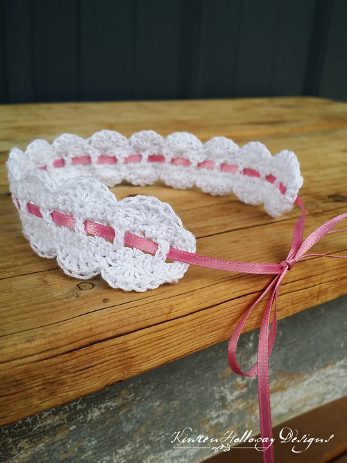 Scalloped Lace Heirloom Headband